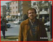 L'attore Gianni Cavina nei panni di Sarti Antonio