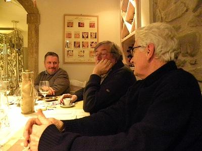 Francesco Guccini e Loriano Macchiavelli a cena una sera a Pavana
