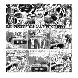 Le piste dell'attentato pagina del libro a fumetti